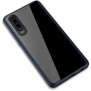 Чехол-накладка Ipaky Bright Series/TPU frame With Clear PC Case для Huawei P30 Blue