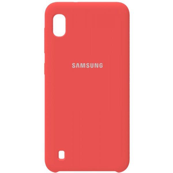 Чохол-накладка Samsung Silicone Case Galaxy A10 Peach Pink
