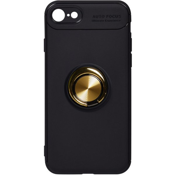 Чехол-накладка TOTO Car Magnetic Ring TPU Case Apple iPhone 7/8 Black/Gold