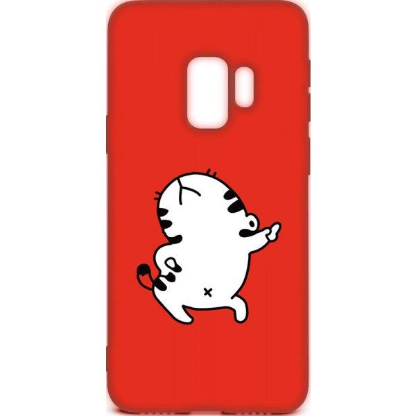 Чехол-накладка TOTO Cartoon Soft Silicone TPU Case Samsung Galaxy S9 Cat Red