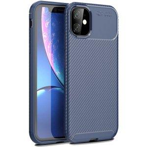 Чехол-накладка TOTO TPU Carbon Fiber 1,5mm Case Apple iPhone 11 Dark Blue