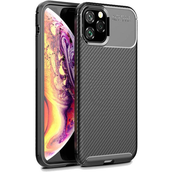 Чехол-накладка TOTO TPU Carbon Fiber 1,5mm Case Apple iPhone 11 Pro Black