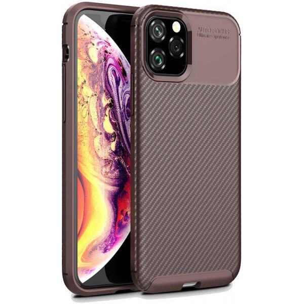 Чехол-накладка TOTO TPU Carbon Fiber 1,5mm Case Apple iPhone 11 Pro Coffee
