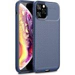 Чехол-накладка TOTO ТПУ Вугільне волокно 1,5 мм Чохол Apple iPhone 11 Pro Темно-синій