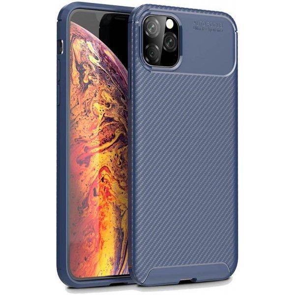 Чехол-накладка TOTO TPU Carbon Fiber 1,5mm Case Apple iPhone 11 Pro Max Dark Blue