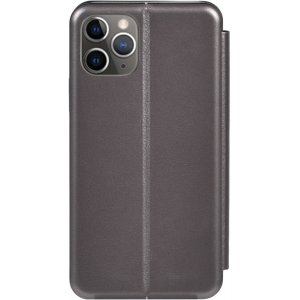 Чехол-накладка TOTO Book Rounded Leather Case Apple iPhone 11 Pro Max Gray