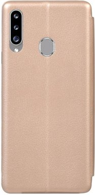 Чехол-книжка TOTO Book Rounded Leather Case Samsung Galaxy A20s Gold