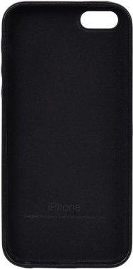 apple black case chehol iphone leather nakladka se5s5 toto
