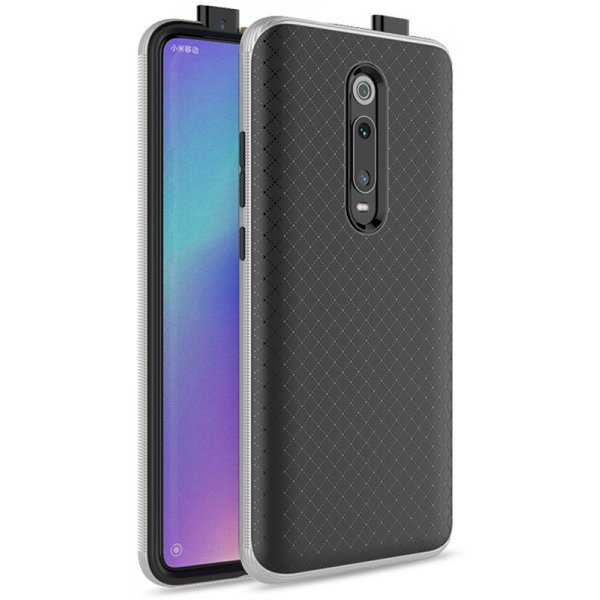 Чехол-накладка Ipaky Bumblebee Series/PC Frame With TPU Case для Xiaomi Redmi K20/K20 Pro Silver