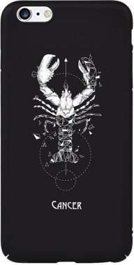 Чехол-накладка TOTO Full PC Print Case Apple iPhone 6 Plus/6S Plus #169_Cancer Black