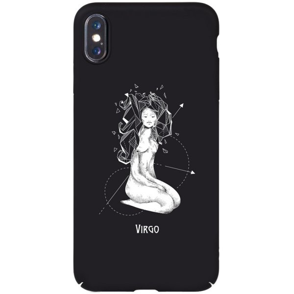 Чехол-накладка TOTO Full PC Print Case Apple iPhone X/XS #165_Virgo Black