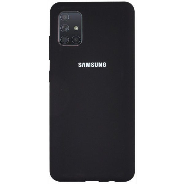 Чехол-накладка TOTO Silicone Full Protection Case Samsung Galaxy A71 Black