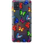 Чехол на Samsung Galaxy A51 2020 A515F Красочные мотыльки (4761t-1827-39976)