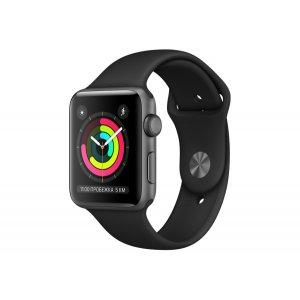 Смарт-часы Apple Watch Series 3 42mm GPS Space Gray Aluminum Case with Black Sport Band (MTF32)