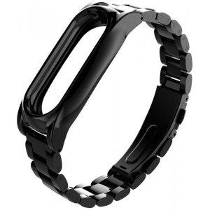 Ремешок UWatch Metal Strap For Xiaomi Mi Band 2 Black