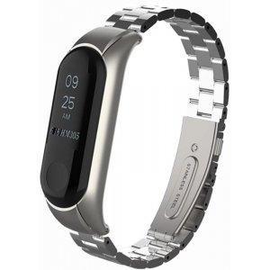 Ремешок UWatch Metal Strap For Xiaomi Mi Band 3 Silver