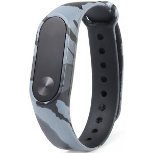 Ремешок UWatch TPU CAMO Strap for Mi Band 2 Gray
