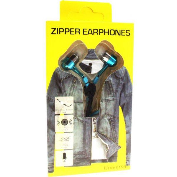 Наушники Zipper Earphones Blue