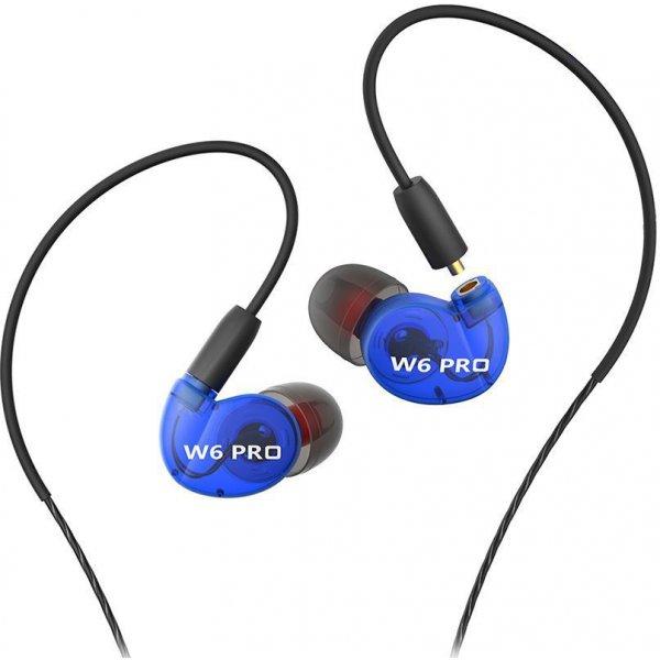 Наушники QKZ W6 pro Blue