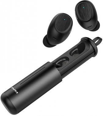 awei black earphones naushniki twins twst55