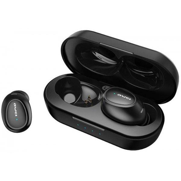 Наушники AWEI T16 TWS Bluetooth Earphones Black