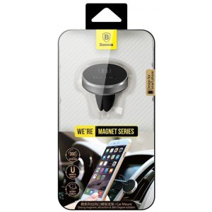 Автодержатель Baseus Magnet Car Mount Black