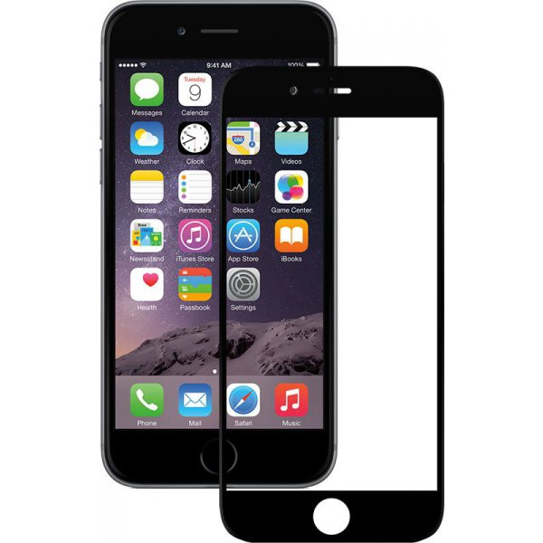 Защитное стекло Mocolo 2.5D Full Cover Tempered Glass iPhone 6/6s Plus Silk Black