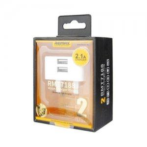 Сетевое зарядное устройство Remax RMT7188  2-Port USB 2.1A White