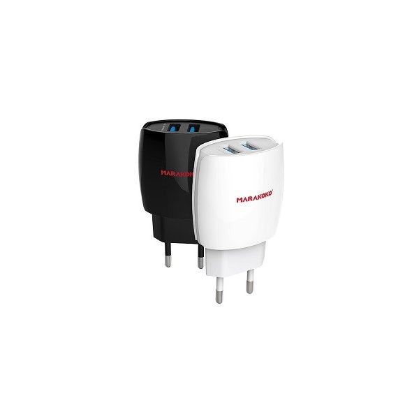 Сетевое зарядное устройство MARAKOKO MA1 EU Plug 2-Port USB 2.4A Black