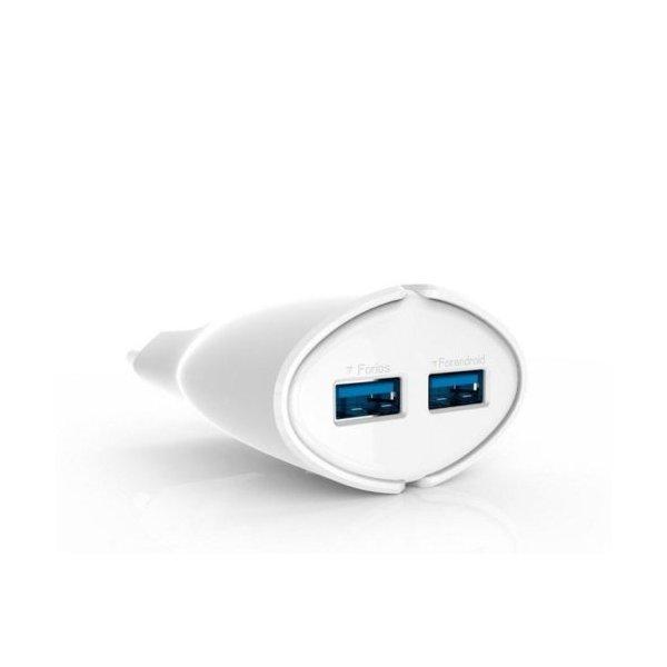 Сетевое зарядное устройство Ldnio A2271 + cable micro 2-Port USB 2.1A White