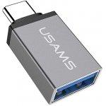 Перехідник Usams US-SJ028 Type-C to USB 3.1 OTG Grey