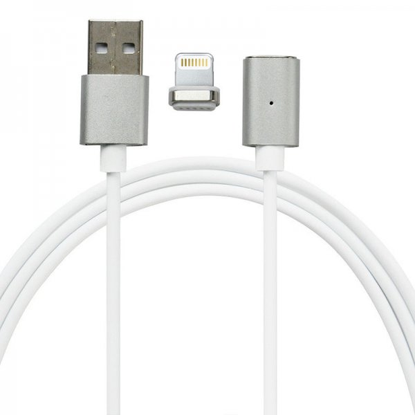 Кабель Mocolo SJX022 magnetic cable For Lightning 1M Silver