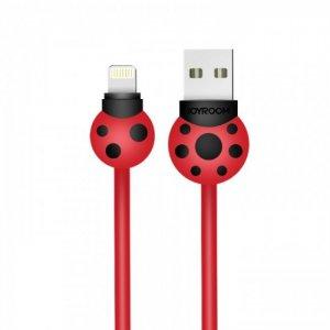Joyroom S-L124 Beetle Series Lightning USB Cable (1.2m) —Red