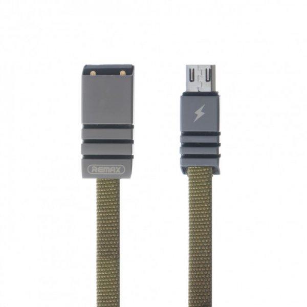 microUSB кабель Remax Weave RC-081m, 1m black