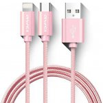 Кабель AWEI CL-984 2in1 cable 1m Rose Gold