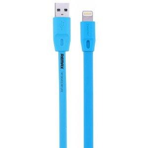 Lightning кабель Remax Flat Full Speed II RC-011i, 1m blue
