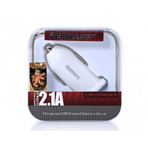 Автомобильное зарядное устройство Remax RCC101 Single USB 2.1 A Car Charger White