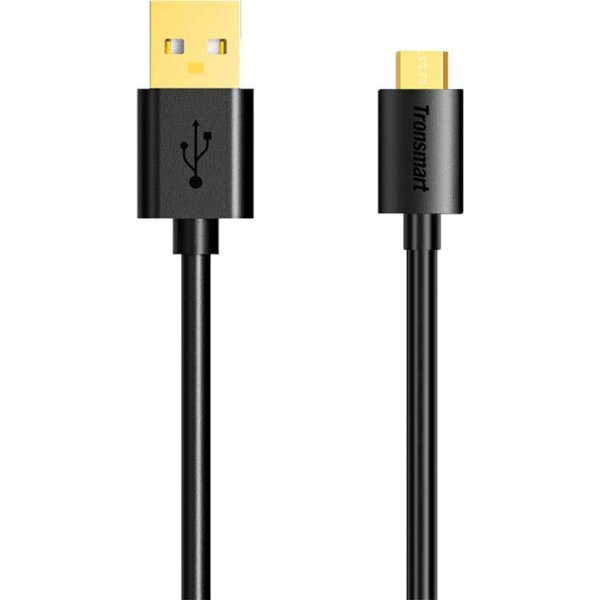 Кабель Tronsmart MUS03 Premium USB Cable 1m With Gold-Plated Connectors Black