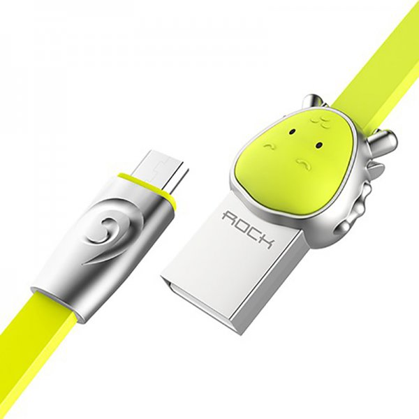 Кабель Rock Chinese Zodiac  Micro cable 1M Dragon Green
