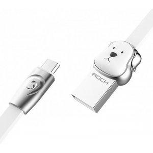 Кабель Rock Chinese Zodiac  Micro cable 1M Dog-White