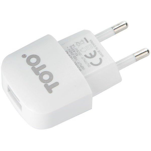 Сетевое зарядное устройство TOTO TZV-42 Led Travel charger 1USB 1A White