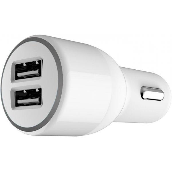 Автомобильное зарядное устройство Belkin Car charger 2USB 2.1A Soft White