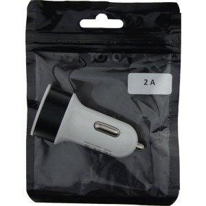 Автомобильное зарядное устройство TOTO TZZ-58 Car charger metal 2USB 2.1A Black