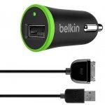 Автомобильное зарядное устройство Belkin Car charger 1USB 2.1A + iPhone4 cable Black