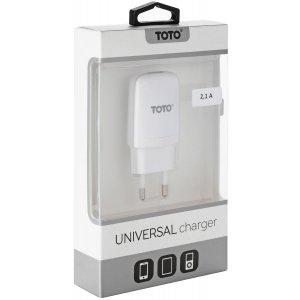 Сетевое зарядное устройство TOTO TZV-43 Travel charger 1USB 2,1A White