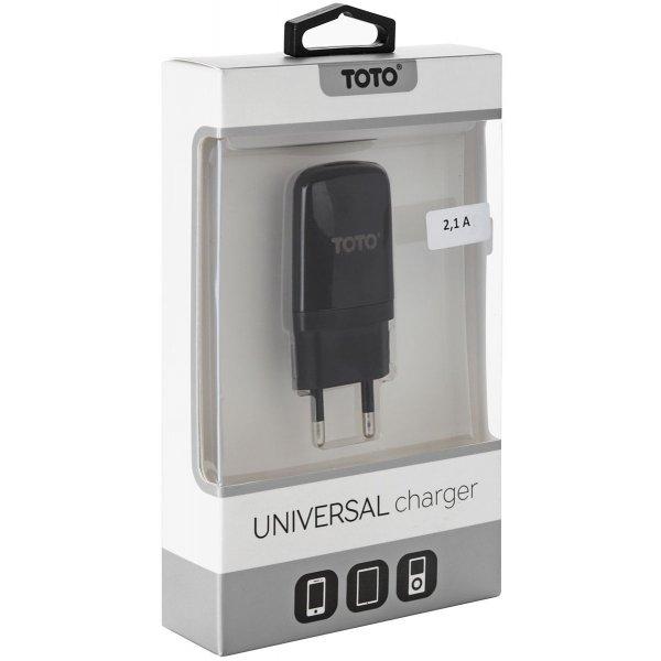 Сетевое зарядное устройство TOTO TZV-43 Travel charger 1USB 2,1A Black