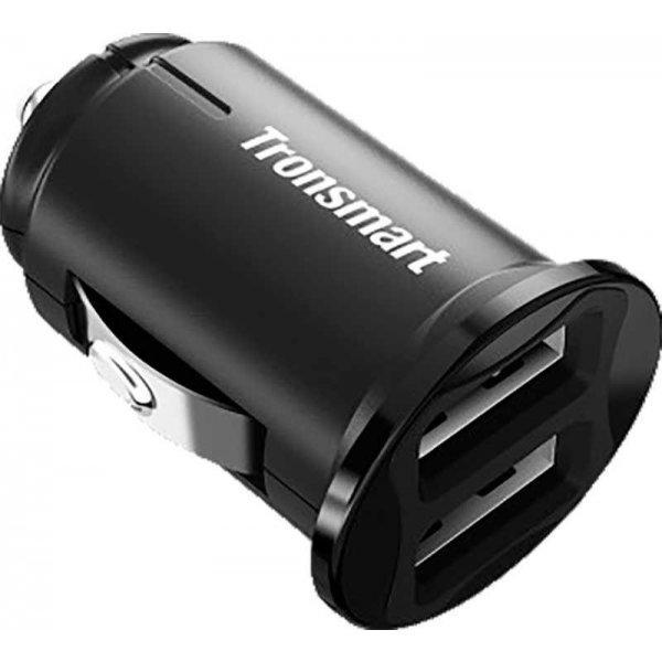 Автомобильное зарядное устройство Tronsmart C24 Dual USB Port Car Charger Black