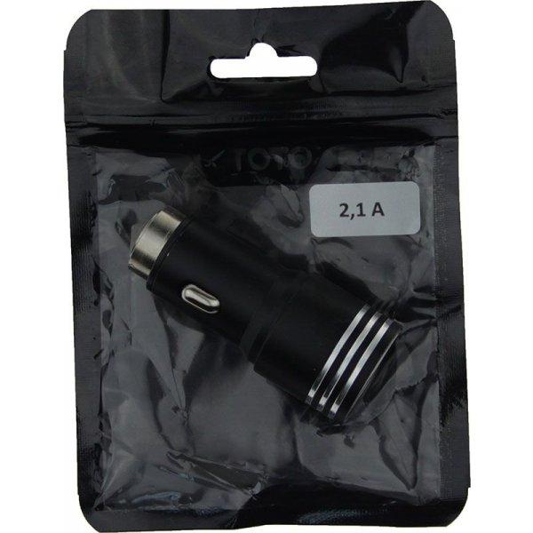 Автомобильное зарядное устройство TOTO TZZ-55 Car charger 2USB 2,1A Black