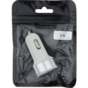 Автомобильное зарядное устройство TOTO TZZ-58 Car charger metal 2USB 2,1A Silver