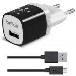 Сетевое зарядное устройство Belkin Travel charger 1USB 1A + MicroUsb cable Black